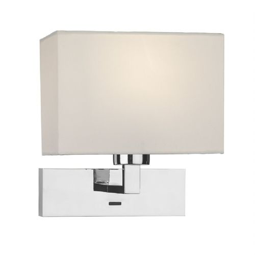 1 Light Rectangle Wall Bracket Polished Chrome Base Only (Class 2 Double Insulated) BXMOD7150-17